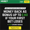 Bookmaker Unibet Money Back