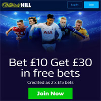 Bookmaker William Hill free bet 2020