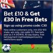 Bookmaker William Hill free bet